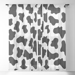 Moo Cow Print Sheer Curtain