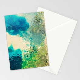 Retro Abstract Photography Underwater Bubble Design Stationery Cards