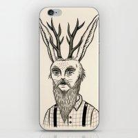 jackalope iPhone & iPod Skins featuring Jackalope by Jon MacNair