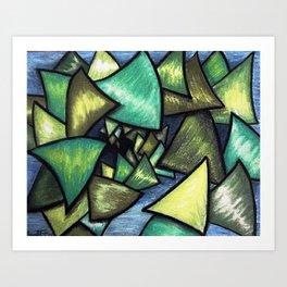 Limey Chips Art Print