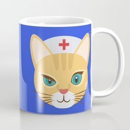 Nurse Cat ~ Blue Coffee Mug