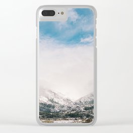 Peaceful Winter Day at Pinecrest Lake Clear iPhone Case