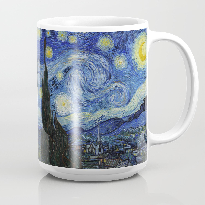 Starry Night By Vincent Van Gogh Coffee Mug By Palazzoartgallery Society6