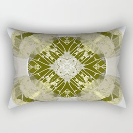 Microchip Mandala in Gold Rectangular Pillow