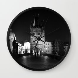 on the way black and white Wall Clock