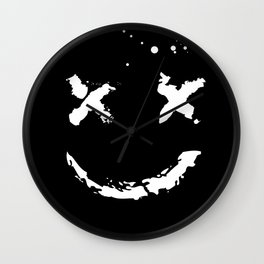 Confused Smile Wall Clock