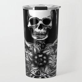 Matryoshka Skelton Doll - black Travel Mug