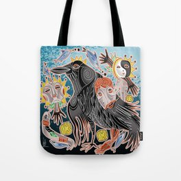 go with crow Tote Bag