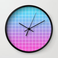 gradient Wall Clocks featuring Gradient by aesthetically