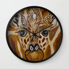 Baby Giraffe Art, Kids Room Bathroom Art, Zoo Animals, Nursery Room Wall Clock