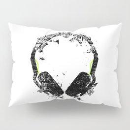 Art Headphones Pillow Sham