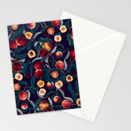 Nectarine and Leaf pattern Stationery Cards