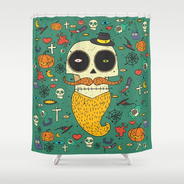 Halloween Shower Curtain By Ariadnas