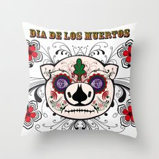 Berto: Dia de los muertos (Day of the dead) Throw Pillow