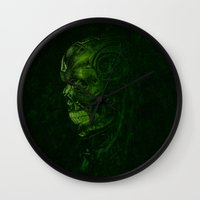 terminator Wall Clocks featuring The Terminator - Version 2 by Mark A. Hyland (MAHPhoto)