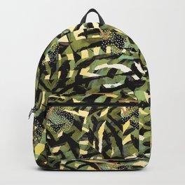 Tropical leaf and geometric Backpack