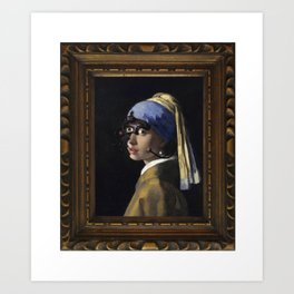 Borg with a Pearl Earring Art Print