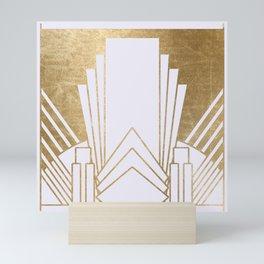 Art Deco design - blonde Mini Art Print