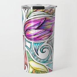 Lotus Maori Huia Art Travel Mug