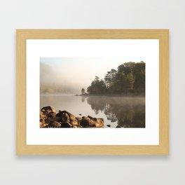 Loch Affric in morning mist Framed Art Print