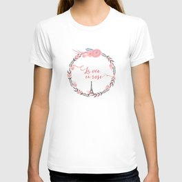 La Vie en rose Typography T-shirt