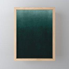 Ombre Emerald Framed Mini Art Print