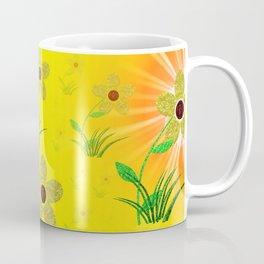 flower,abstract pattern in metal Coffee Mug