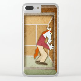 Why Unicorns Don't Sneeze In Elevators Clear iPhone Case