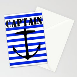 Captain and anchor logo Stationery Cards