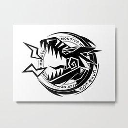 Tigrex Sigil [Black] Metal Print