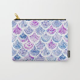 OCEAN PROTECTRESS Lavender Mermaid Scales Carry-All Pouch