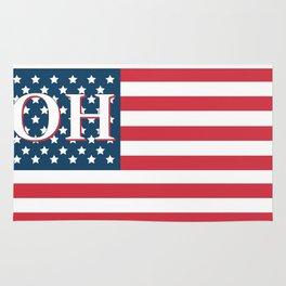 Ohio American Flag Rug