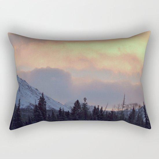 Serenity Rose Mt Sunrise Rectangular Pillow