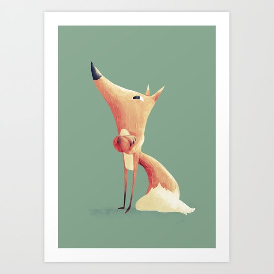 Freddie the Fox Art Print