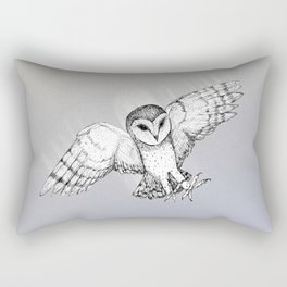 Attacking barn owl Rectangular Pillow