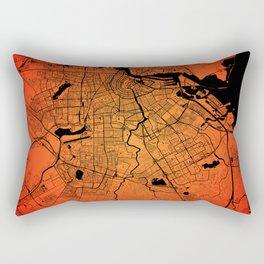 Amsterdam map Rectangular Pillow