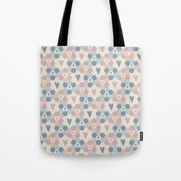 Hexagon Flowers Tote Bag