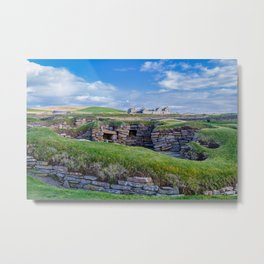 Skara Brae, Orkney, Scotland. Metal Print