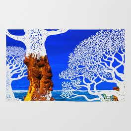If A Tree Falls In Sicily White Rug
