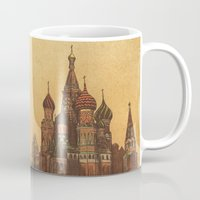 moscow Mugs featuring Moving to Moscow by Terry Fan