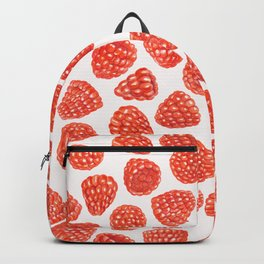 Watercolor raspberry pattern Backpack