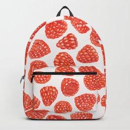 Watercolor raspberry pattern Backpack