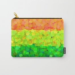 Sparkle Glitter Orange Carry-All Pouch