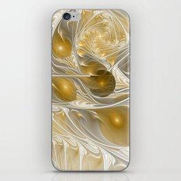 Golden, Abstract Fractal Art iPhone Skin