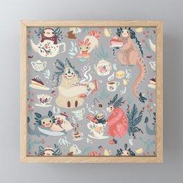 Tea Spirit pattern Framed Mini Art Print