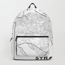 Minimal City Maps - Map Of Syracuse, New York, United States Backpack