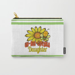 Unbelievable Daughter Sunflowers and Bees Carry-All Pouch