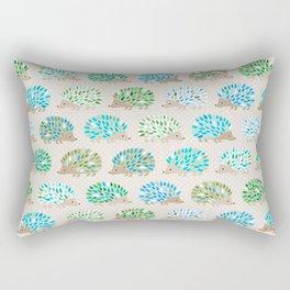 Hedgehog polkadot in green and blue Rectangular Pillow