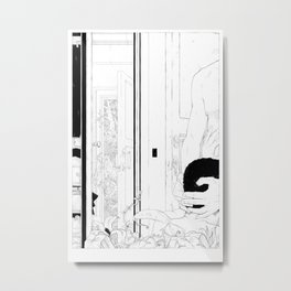 Scenes de Lit /Bedroom Scenes III Black and white version Metal Print