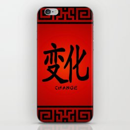 "Symbol ""Change"" in Red Chinese Calligraphy iPhone Skin"